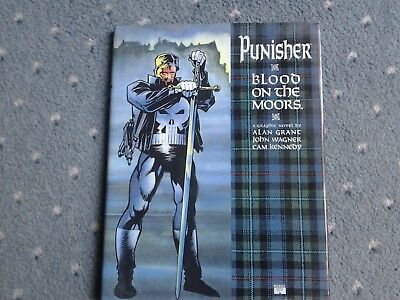 PUNISHER BLOOD ON THE MOORS Grant Wagner Kennedy Marvel HB 1st Print 1991