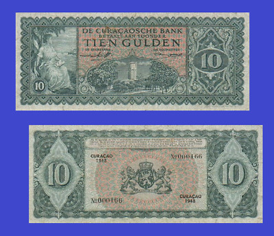Curacao 10 gulden 1948. UNC - Reproduction