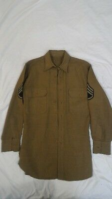 WW2 WWII US American Sargent's Wool Service Shirt