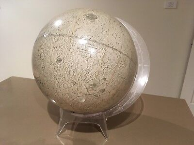 """Vintage Rand McNally 12"""" Lunar Globe with Stand"""