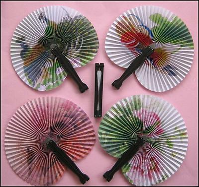 Bulk Lot x 5 Ladies Girls Oriental Folding Summer Fans Pocket Size New