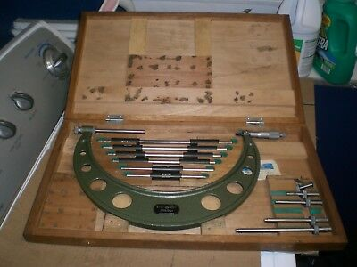 Mitutoyo outside Micrometer set 104 -138  6-12 inch .001  with Box