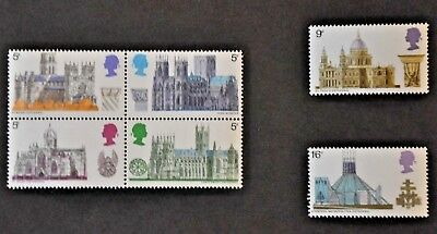GREAT BRITAIN STAMPS - 1969 Cathedrals (SG796 -801). Mint set of 6.