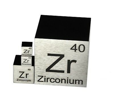 Zirconium Metal 1 Inch 25.4mm Density Cube 99.2% Pure for Element Collection