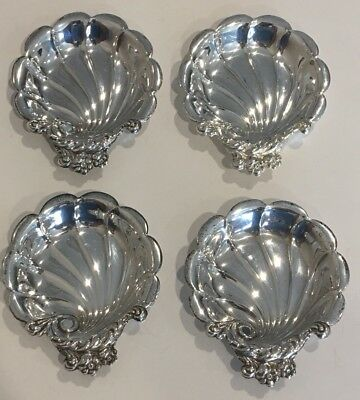 Lunt Eloquence Sterling Silver Butter Pat/Mint Shell Dish *No Monogram/Damage