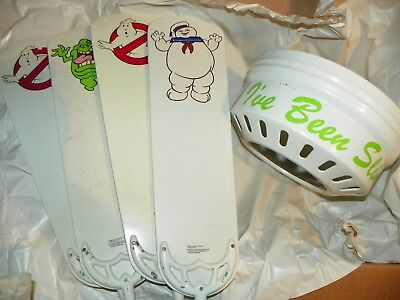"""RARE Vintage 1980s, The Real Ghostbusters 42"""" Ceiling Fan - Slimer Stay Puft"""
