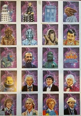 Doctor Who 30th Anniversary Collectors Cigarette Trading Cards - Full Set - Rare