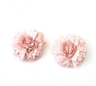 2 x Nude Pink Flower Hair Clips Bridesmaid Fascinator Festival Boho Peony 5257