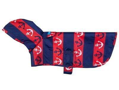 NEW Red White and Blue Dog Rain Coat Poncho (Packable) in Nautical by RC Pets
