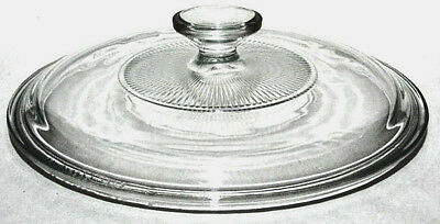 PYREX  G1C  8 3/4 Inch Round Clear Glass Replacement Lid