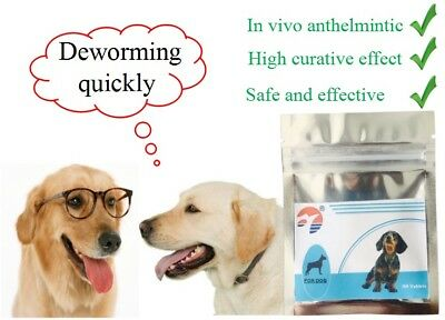60 Tablets Dog Pet Animal Wormer Worming Tablets Dewormer