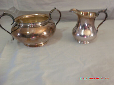 Silver Plated Creamer and Sugar Bowl Vintage Pieces