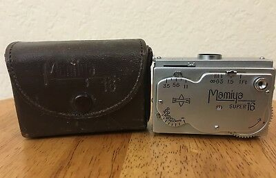 MAMIYA SUPER 16 SPY CAMERA & Leather Case Vintage Film Camera