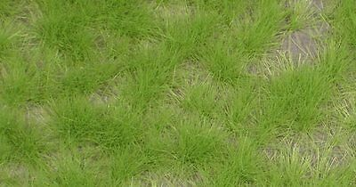 HO GRASS TUFTS - SPRING GREEN, EXTRA LONG suit MODEL TRAIN, RAILWAY, WAR GAMES