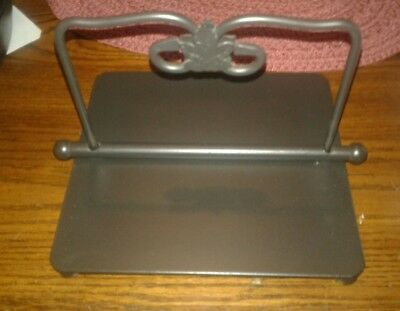 Longaberger Wrought Iron Napkin Holder  heavy cast-iron