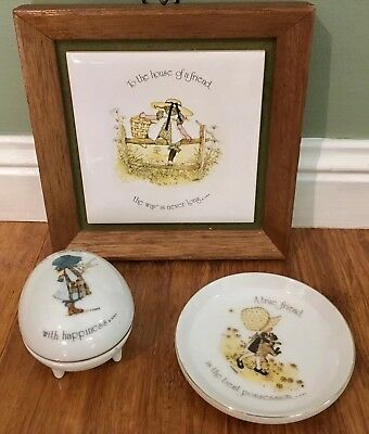 Hollie Hobby Holly Hobbie Trinket Dish Jewellery Plate Frame Friend Gift Quote