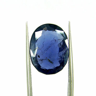9.76 Ct Oval Natural Blue Iolite Loose Gemstone Untreated Stone - 116840
