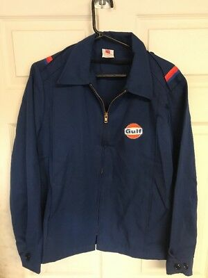 Vintage NOS Gulf Gas Oil Service Station Jacket Made By Lion