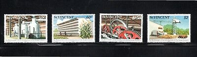 St Vincent 1982 1st Anniversary re-introduction of Sugar Industry SG 686/9 MUH