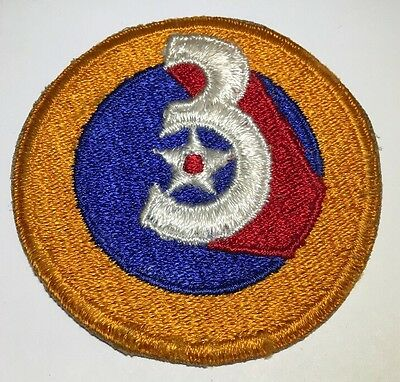 Original WWII USAAF U.S. ARMY 3rd AIR FORCE CUT EDGE FULL COLOR PATCH No Glow