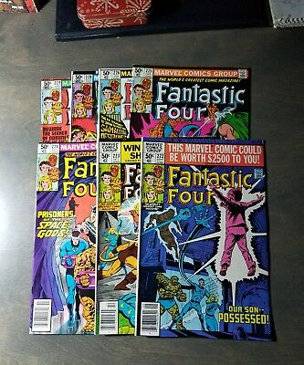 Fantastic Four Lot Of 7 - #222,223,224,225,226,228,229 Copper/bronze  Age
