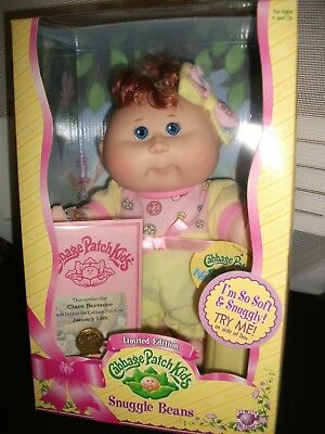 "NEW 2006 Cabbage Patch Kids Limited Edition Snuggle Beans approx 10"" size"