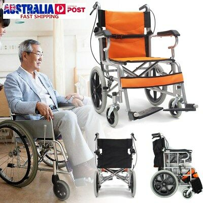 34'' Lightweight Solid Foldable Medical Wheelchair Armrest Footrest with Brakes