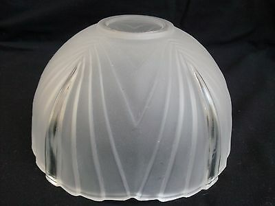 Vintage Frosted Glass Art Deco Light Fixture Lamp Shade