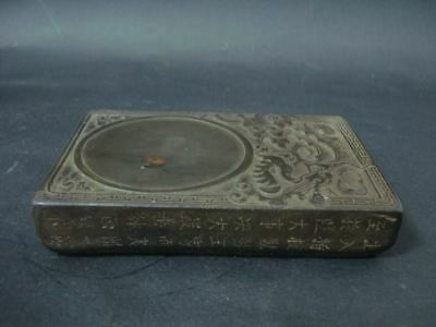 "Fine Old Chinese Ink Stone Hand Carving Dragon InkSlab Marked ""ZuoFengYiCheng"""