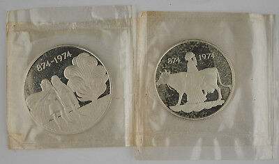 Iceland 1974 Settlement 500 & 1000 Kronur Silver 2 Coin Proof Set @Sealed@