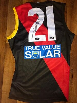 Dyson Heppell Signed Player Issue Essendon Afl Jumper Guernsey Jersey