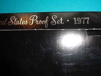 1977 U S Mint Proof Set, 6 coin with Eisenhower Dollar