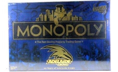 FREE POSTAGE * QUALITY * MONOPOLY BOARD GAME - ADELAIDE CROWS 20th ANNIVERSARY