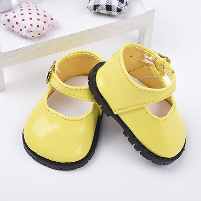 Yellow Doll Shoes for 18 Inch Girl Dolls Clothes Shoes Baby Gifts 7.3cm