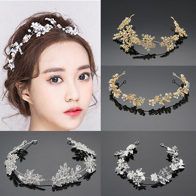 Vintage Elegant Vintage Boho Hair Vine Wedding Headband Hairband Bridal Crystal