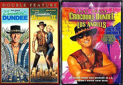 CROCODILE DUNDEE TRILOGY - 1 2 3  PAUL HOGAN DVD Region 1.