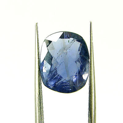 4.22 Ct Oval Natural Blue Iolite Loose Gemstone Untreated Stone - 116790