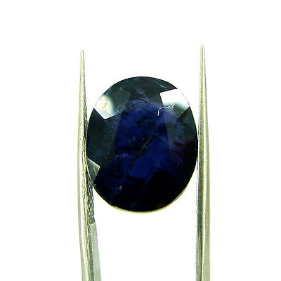 10.62 Ct Oval Natural Blue Iolite Loose Gemstone Untreated Stone - 116748