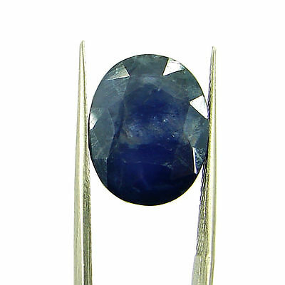9.00 Ct Oval Natural Blue Iolite Loose Gemstone Untreated Stone - 116779