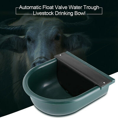 Automatic Float Valve Water Trough Livestock Drinking Bowl for Cat Sheep Dog AU