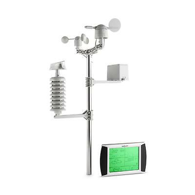 oneConcept Beaufort weerstation draadloos 100m LCD-touch-display solar