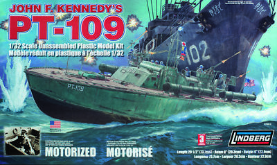 LINDBERG - PT-109 Patrol Boat 1:32 plastic model KIT [70813] - GALAXY RC