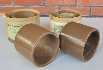 2 X large diameter Grand Concert Phonograph cylinder records -- for  display