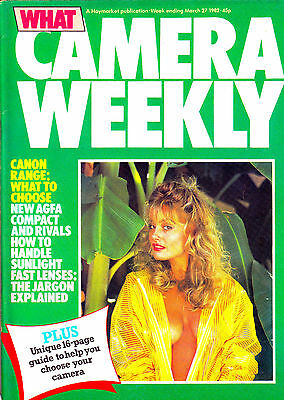 What Camera weekly magazine with Pentax MG & 50mm F2 smc tested   27 March 1982