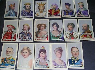 Vintage Hoadleys Chocolates Ltd Cards British Empire Kings and Queens