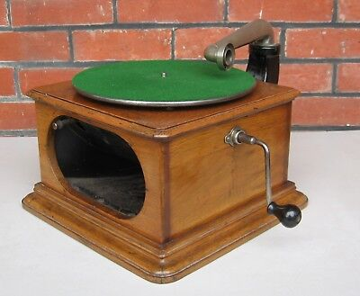 RARE early Columbia Hornless Gramophone / Phonograph -- for restoration / parts