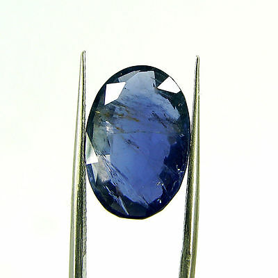 6.64 Ct Oval Natural Blue Iolite Loose Gemstone Untreated Stone - 116842