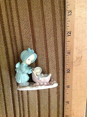 Enesco Precious Moments Pushing baby in stroller