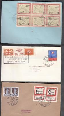1971 Postal Strike Three Small Covers All Used ( For Condition See Scan )