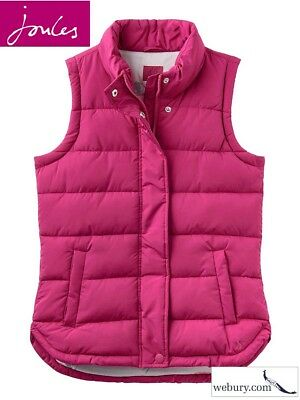 Joules Eastleigh Ladies Quilted Lightweight Padded Gilet - Ruby - Sizes UK 8-16